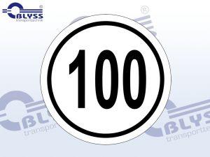100 km/h Aufkleber