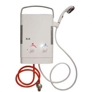 Dusche mit Warmwasser-Gas-Durchlauferhitzer