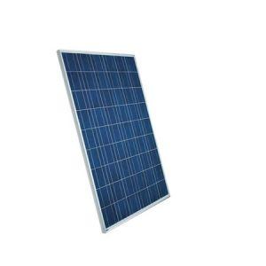 Photovoltaik-Anlage, montiert und angeschlossen, für Batterieladung
