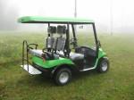 Melex Typ N.CAR 343 auch mit optionaler Variobank erhältlich, Rückbank dann zur Ladefläche klappbar