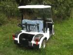 Melex Typ 947: 2 Sitzer und Transportfahrzeug für Ihr Golfequipment.