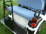 Melex Typ 966: Auch mit Variobank erhältlich. Rücksitz als Ladefläche umklappbar.