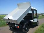 Melex Typ N.CAR 391: Optional auch mit Kipphydraulik, rückwärts erhältlich.