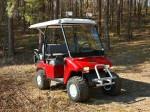 Melex Typ XTR 563: Fühlt sich auch im Wald und auf sandigem Boden gut an.