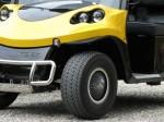 Melex TYP N.CAR 345: Scheibenbremsen vorn und Trommelbremsen hinten geben zusätzlich ein sicheres Fahrgefühl.