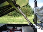 Melex Typ XTR+ 965: Kipphydraulik für Rückwärtskipper.