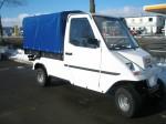 Melex Typ 961: Emissionsfrei und kostengünstig Sachen transportieren.