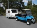 Melex Typ XTR+ 965: Starker Motor zieht Wohnwagen und Anhänger.
