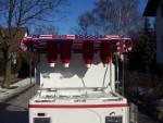 Elektroauto mit Hot Dog Zubereitung